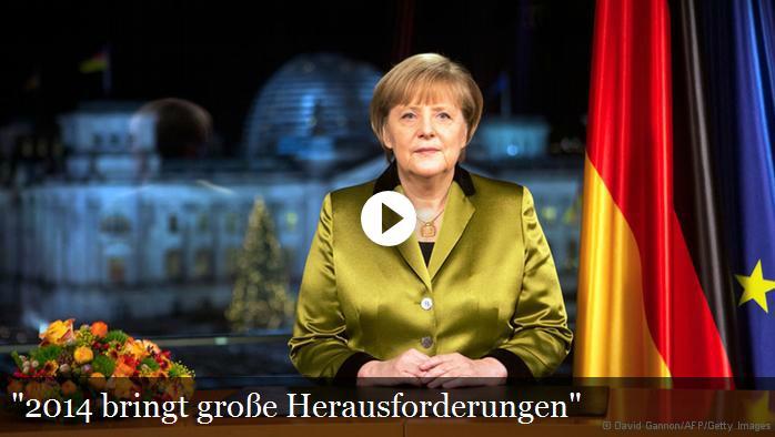 2014德国总理新年讲话(视